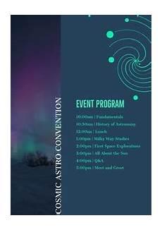 Event Program Booklet Template Free Online Event Program Maker Adobe Spark
