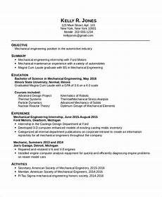 Resume For Engineering Internship 10 Mechanical Engineering Resume Templates Pdf Doc