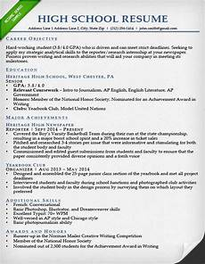 Sample Resume For High School Students 24 Best Student Sample Resume Templates Wisestep