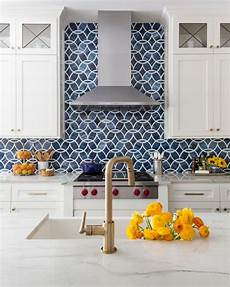 blue tile kitchen backsplash modern kitchen with bold blue backsplash hgtv