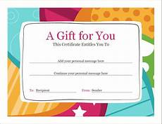 Editable Gift Certificate Template Birthday Voucher Template Word Excel Templates