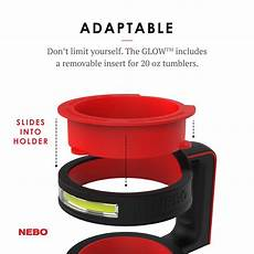 Nebo Cup Light Nebo 30 Ounce Tumbler Cup Holder Accessory Glow Dimmable