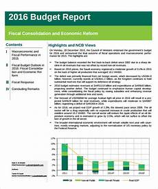 Budget Reporting Templates Free 9 Sample Budget Reports In Pdf Ms Word Excel