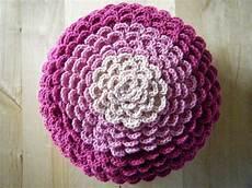 diy crochet pattern flower pillow pillow cover