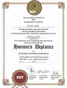 Niit Certificate Format Pdf Vivek Jain