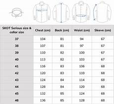 Mexico Shirt Size Chart Shirt Size Chart From Skot Fashion Choose Sustainable