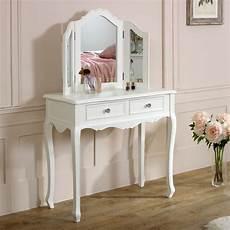 white dressing table mirror set range