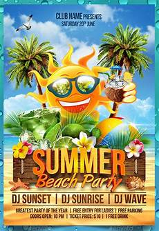 Beach Party Flyer Template Free 13 Summer Party Flyer Templates Psd Pdf Indesign Eps