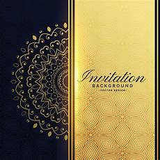 Invite Background Beautiful Golden Invitation Background With Mandala