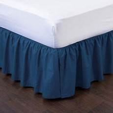 navy blue pleated dust ruffled bed skirt bedding bed