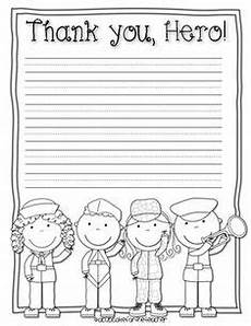 thank you card template for veterans kindergarten writing on writing centers