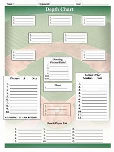 Printable Depth Charts Baseball Depth Chart Template Fill Online Printable