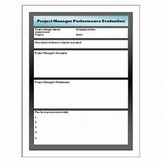 Free Project Management Forms Sample Performance Evaluation For Project Manager Use