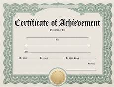 Achievement Certificates Template Blank Achievement Certificate Elearning