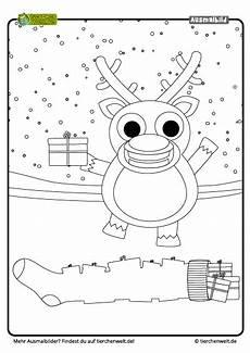Gratis Malvorlagen Weihnachten Quiz Malvorlage Weihnachten Rentier Geschenke