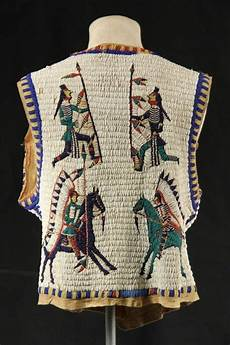 beadwork sioux sioux beaded pictorial vest circa 1890 1910 s lot 95
