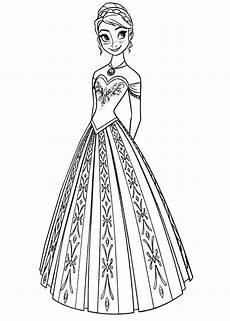 disney frozen elsa and princess coloring pages