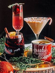 festive drinks add to the holiday party atmosphere