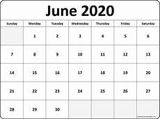 June 2020 Calendar June 2020 Blank Calendar Templates