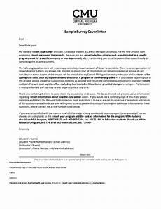 Cover Letter For Survey Sample Survey Cover Letter