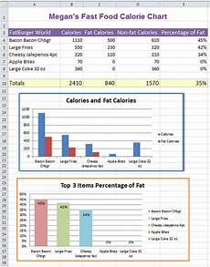 Excel Nutrition Excel Fast Food Nutrition Facts K 5 Computer Lab