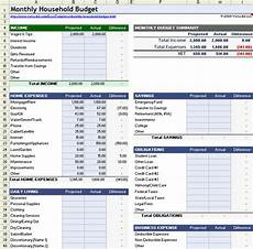 Excel Household Budget Household Budget Worksheet For Excel