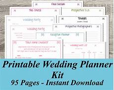 Wedding Planning Printables Printable Wedding Planner Instant Download Ultimate Wedding