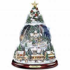 Light Up Christmas Globes Thomas Kinkade Lighted Amp Musical Snow Globe Christmas Tree