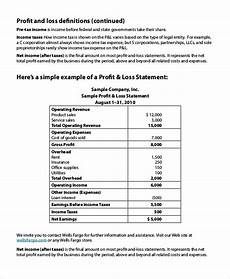 Profit And Loss Statements For Dummies Free 8 Sample Profit Loss Statement Templates In Pdf Excel