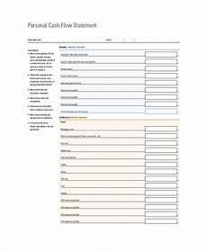Personal Cash Flow Statement Example Free 8 Sample Cash Flow Statement Templates In Pdf Ms Word