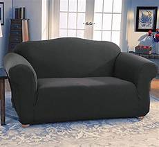 Sofa Slipcovers With 2 Cushions 3d Image by Jersey Stretch Fit 2 Pc Furniture Slipcover Set Sofa