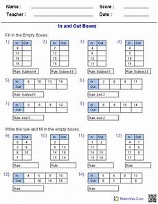 Patterns In T Charts Grade 4 Worksheets Pin On Math Aids Com