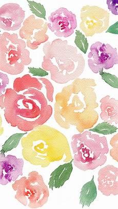 Watercolor Flower Wallpaper Iphone by Free Beautiful Watercolor Floral Tech Wallpaper Fox Hazel
