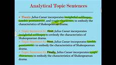 Examples Of Topic Sentences For An Essay Analytical Five Paragraph Essay Topic Sentences 1 Youtube