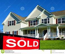 Pictures Of Houses For Sale Real Estate Realtor Sold Sign And House For Sale Stock