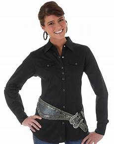 wrangler sleeve snap shirts for wrangler s sleeve solid snap shirt black