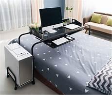 home rolling adjustable computer desk table bed