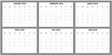 6 Month Calendar On One Page 6 Month One Page Calendar 2018 Latest Calendar