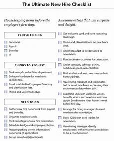 Sample New Hire Orientation Checklist A Checklist For Everything You Need To Do When You Hire A