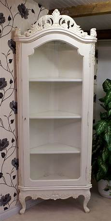 antique white display corner cabinet hshire barn