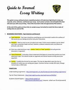 How To Write An Essay Using Apa Format Free 9 Samples Of Formal Essays In Pdf Examples