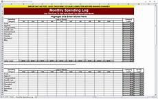 Spending Template Monthly Spending Log Monthly Spending Worksheet