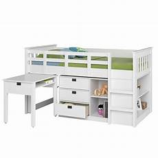 corliving single loft bed with desk and storage