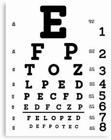 Printable Allen Picture Eye Chart Quot Snellen Eye Chart Quot Canvas Print By Allhistory Redbubble