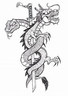 Ausmalbilder Drachen Erwachsene Therapy Coloring Page Tattoos 3