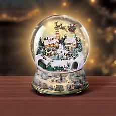 Light Up Christmas Globes Musical Snow Globes With Light Thomas Kinkade Snow