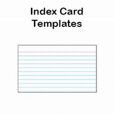 Index Card Size Template Printable Index Card Templates 3x5 And 4x6 Blank Pdfs