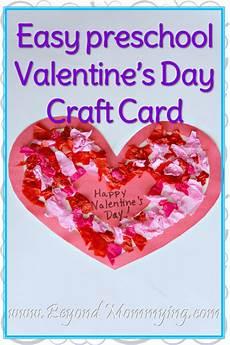 Preschool Valentines Day Cards Easy Preschool S Day Craft Card Beyond Mommying