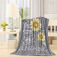 flannel fleece bed blanket 50 x 80 inch sunflowers throw