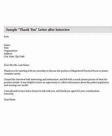 Thank You Letter After Nursing Interview Free 9 Nursing Thank You Letter Samples In Pdf
